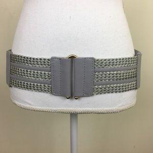 Chunky Periwinkle Elastic Woven Belt